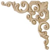 Угловые элементы из древесной пасты