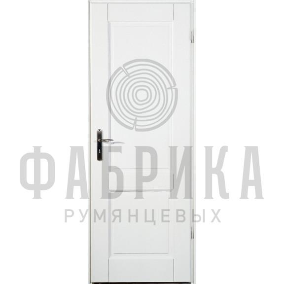 Филёнчатая, массив сосны, белая Модель ARKI 2P БЕЛ