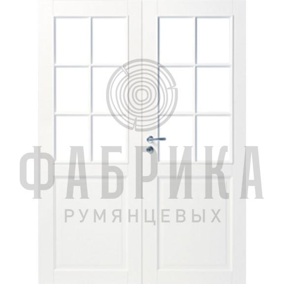 Филёнчатая, массив сосны, белая Модель ARKI 6R+6R БЕЛ