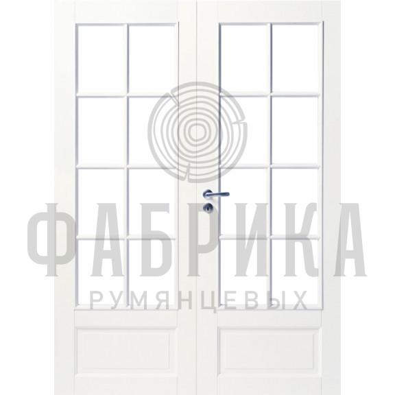 Филёнчатая, массив сосны, белая Модель ARKI 8R+8R БЕЛ