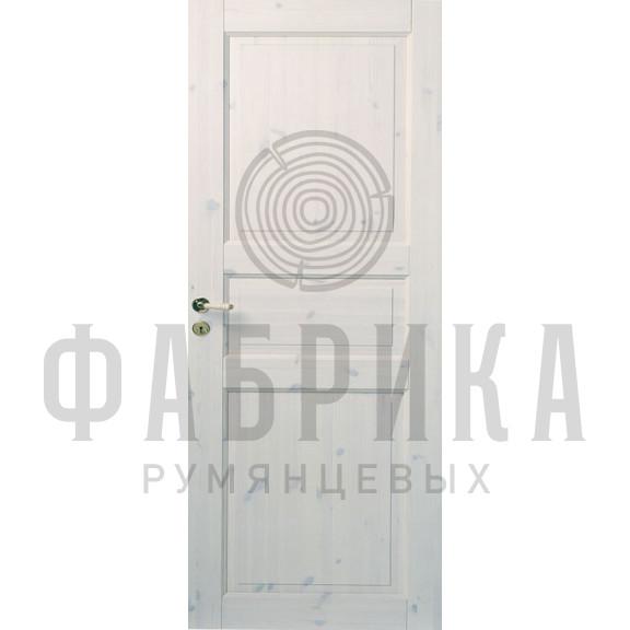 Филёнчатая, массив сосны, белый лак Модель ARKI 3P БЕЛ ЛАК