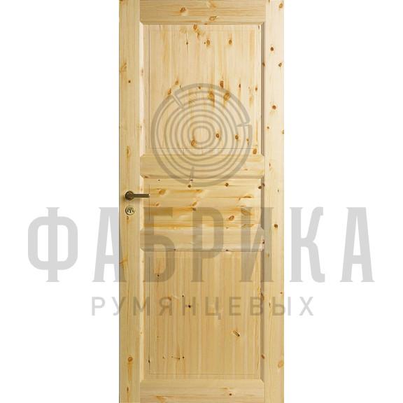 Филёнчатая, массив сосны, бесцветный лак Модель ARKI 3P ЛАК