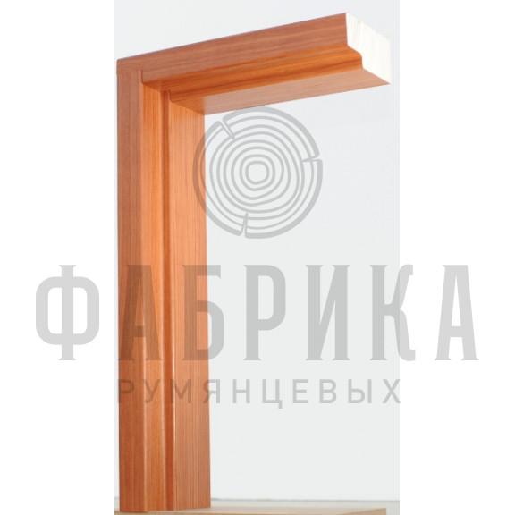 Коробка без уплотнителя Рамень, сосна, ПВХ-плёнка бук, M7-10 х 21