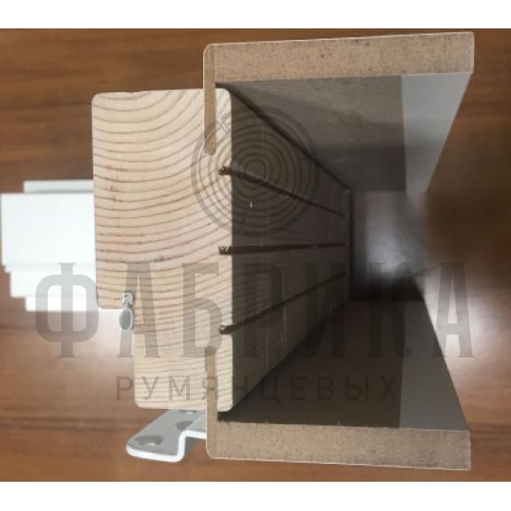 Коробка без уплотнителя, телескопическая, Рамень, сосна, белая, M7-10 х 21