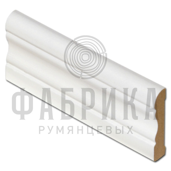 МДФ фигурный, окрашенный белый, ширина 58 мм