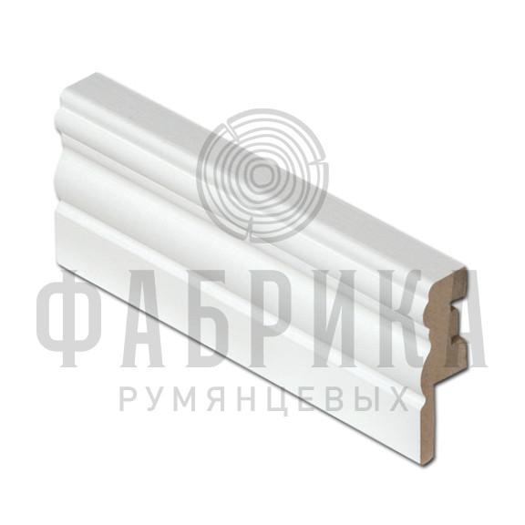 МДФ фигурный, окрашенный белый, ширина 60 мм