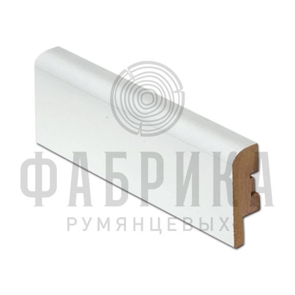 МДФ гладкий, окрашенный белый, ширины 58 и 70 мм