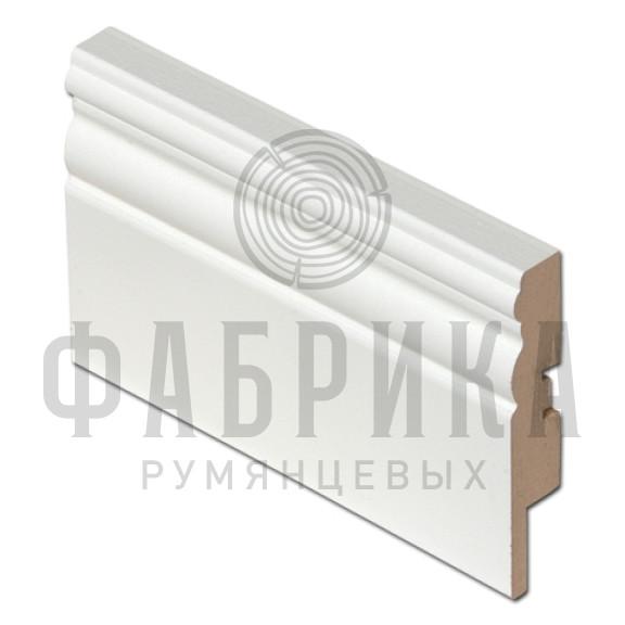 МДФ фигурный, окрашенный белый, ширина 95 мм