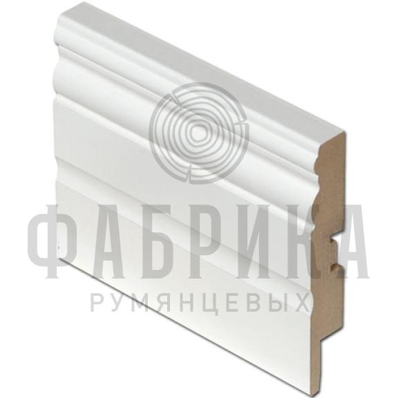 МДФ фигурный, окрашенный белый, ширина 120 мм
